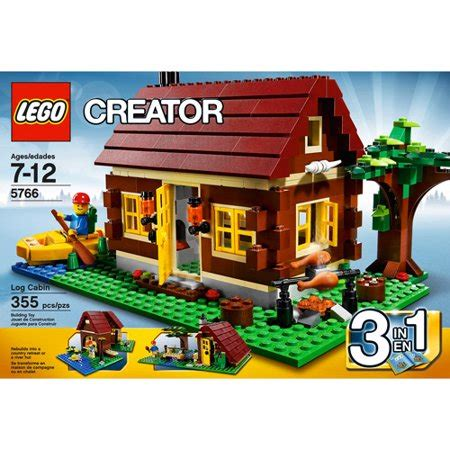 lego log cabin lego creator log cabin set 5766 walmart