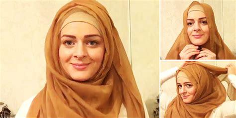 tutorial hijab syar i sederhana tutorial jilbab pengantin sederhana hairstylegalleries com