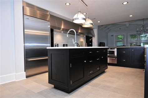 black shaker kitchen cabinets ebony shaker kitchen cabinets quicua com