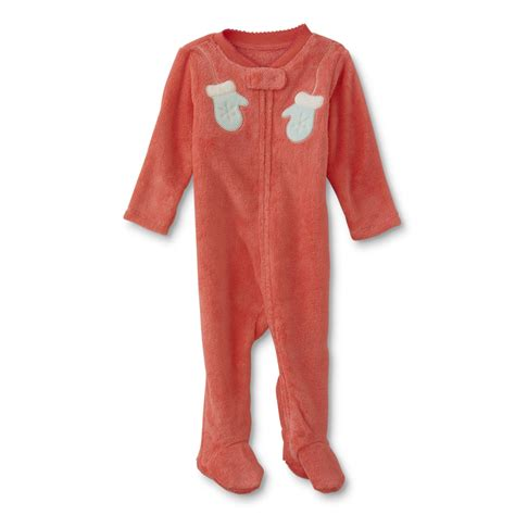 wonders newborn fleece sleeper pajamas mittens