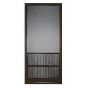 home depot screen doors screen tight 36 in aluminum bronze paradise cove screen