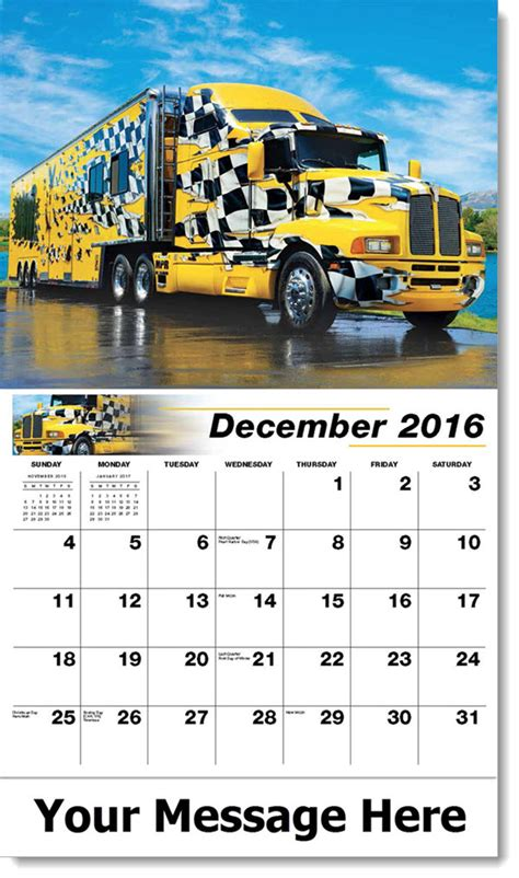 2017 kenworth calendar custom big rigs promotional wall calendars