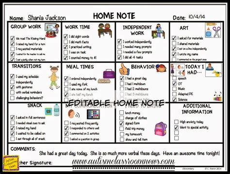 house of note special education home school communication for all ages