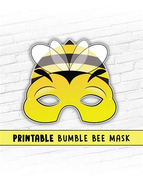 printable bee mask template 18 best animal masks images on pinterest animal masks