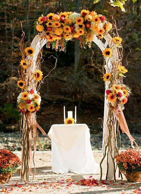fall wedding decorations ideas fall wedding decoration ideas 18 easyday