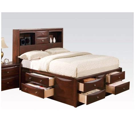 king storage bedroom sets hudson casual 4 pc cal king storage bed set in brown