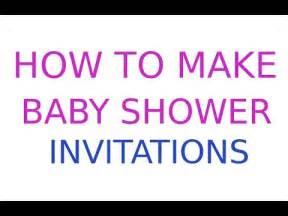 how to make baby shower invitations for free