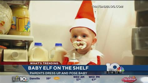 dad turns baby into elf on the shelf usa today dad turns baby into real life elf on a shelf youtube