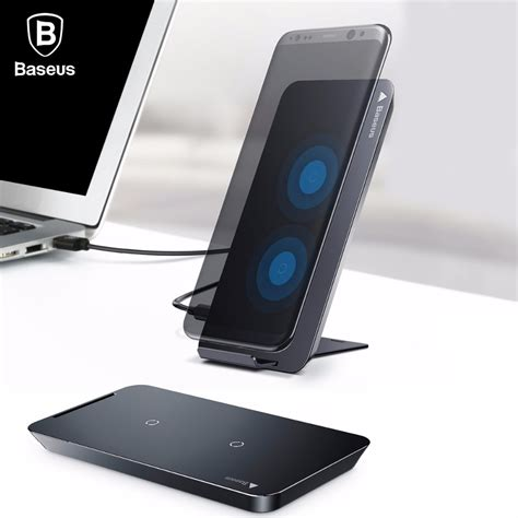 Samsung S8 S7 Baseus Wireless Charger For Iphone X 8 Plus Samsung Note 8 S8 S7 S6 Edge Phone Charger Qi