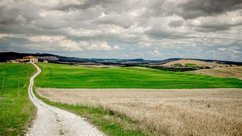 nature landscape clouds trees field tuscany italy