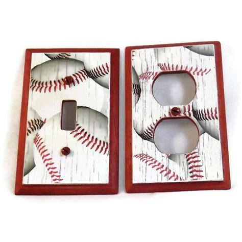 Baseball Home Decor Baseball Decor Wood Switch Plate Childrens By Hookuupcustomcrafts 15 00 Future Lil Werts