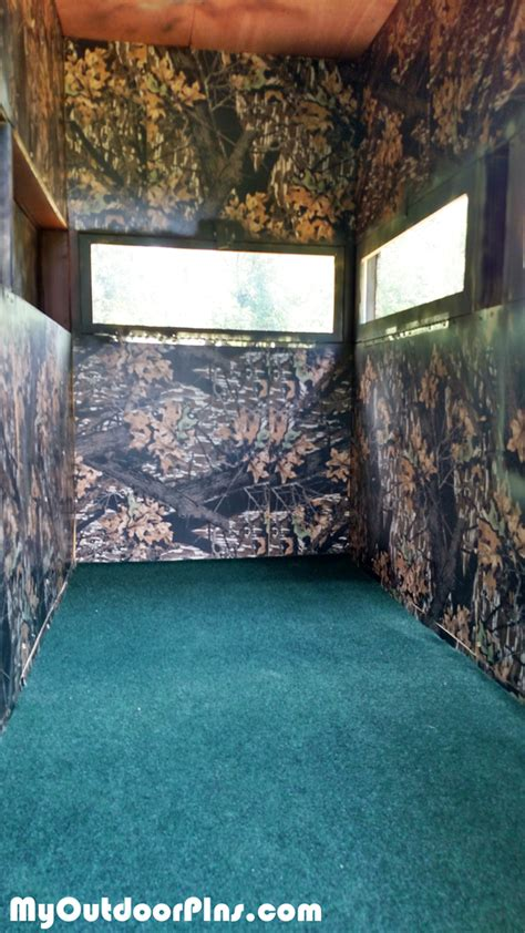 diy deer shooting blind myoutdoorplans