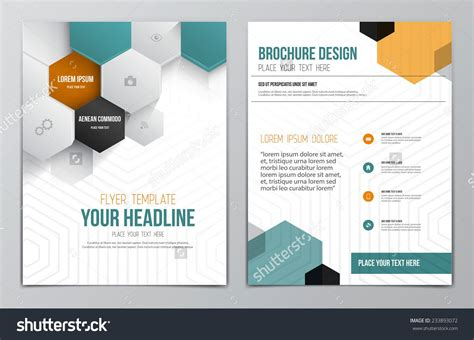 Brochure Design Template Geometric Shapes Abstract Modern Backgrounds Infographic Concept Brochure Layout Template