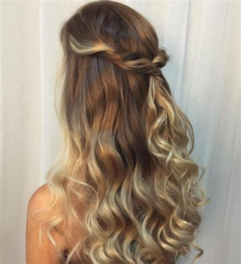 hairstyles curly hair half up half down 50 half up half down hairstyles for everyday and party looks
