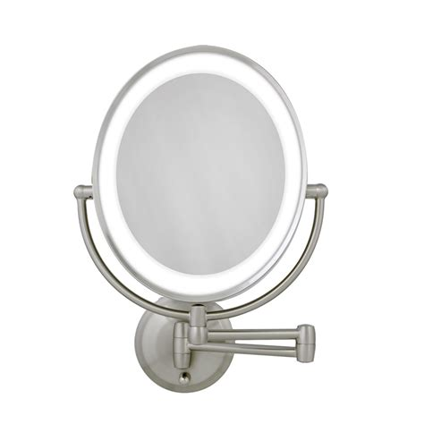 swing arm magnifying mirror x magnifying lighted makeup mirror swing arm wall mount