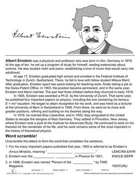 short biography of scientist albert einstein all about albert einstein einstein worksheets and articles