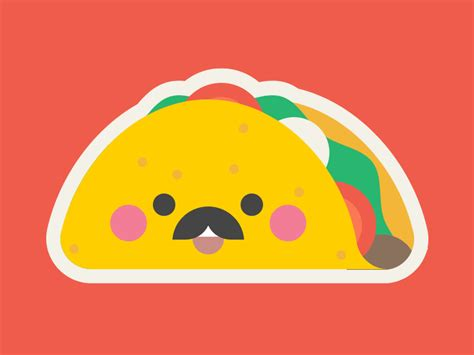 imagenes kawaii de tacos mr taco stickers for imessage by ayana cbell smith