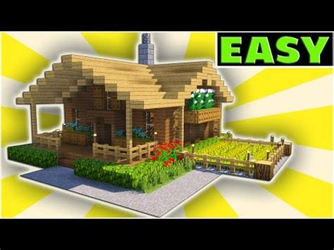 make a house online minecraft starter house tutorial easy how to build a