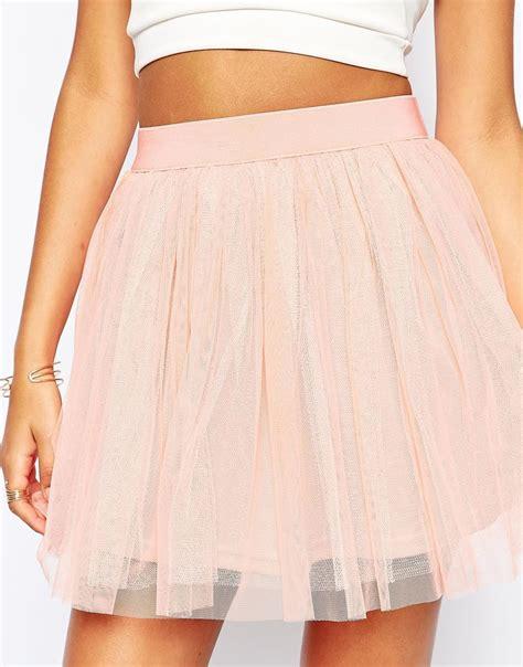 boohoo tulle mini skirt in pink lyst
