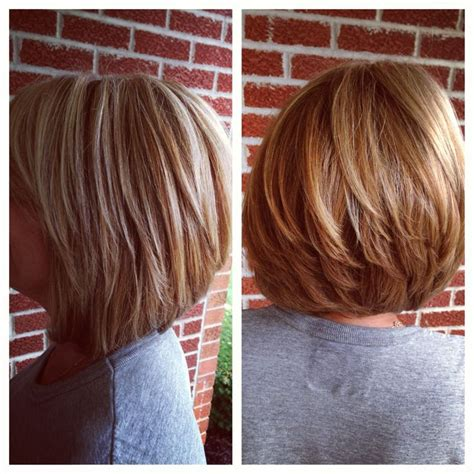 hi bob hair styles short cut with hi and low lights hairbyjulia pinterest