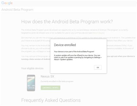 android beta program android n recevoir la mise 224 jour ota en avant premi 232 re tutozine