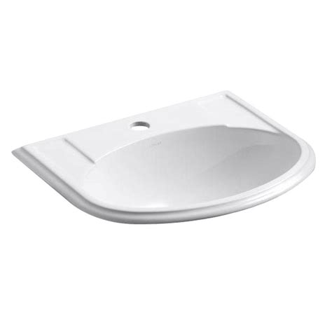 home depot drop in bathroom sinks kohler devonshire drop in vitreous china bathroom sink in