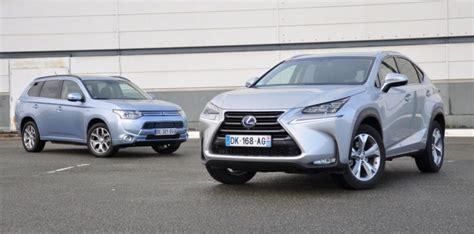 2014 lexus suv hybrid mitsubishi outlander phev et lexus nx300h faut il