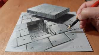 How To Draw 3d Stairs On Paper 3d drawing tunnel stairs time lapse youtube