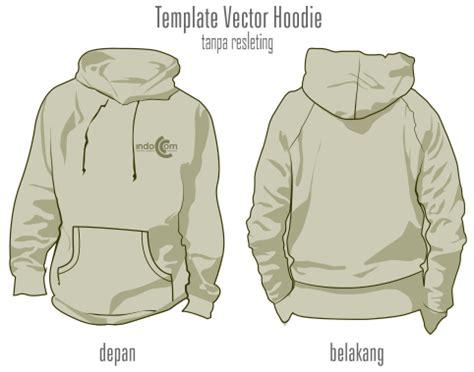 desain jaket hoodie coreldraw download template vector hoodie tanpa resleting format