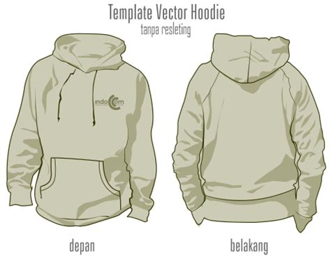 Jaket Sweater Hoodie Canondale Keren Warung Kaos 4 template vector hoodie tanpa resleting format cdr belajar coreldraw