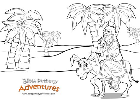 talking donkey coloring page free bible story balaam and the donkey free download