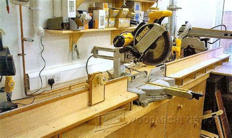 chop saw bench plans miter saw table plans woodarchivist