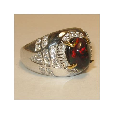 Cincin Silver Batu Hitam cincin pria black opal mackarel 1 carat silver 925