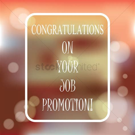 Congratulations Promotion by Congratulations On Your Promotion Vector Image 1827332 Stockunlimited