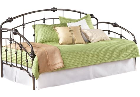 rooms to go daybed heirloom park pewter daybed beds metal