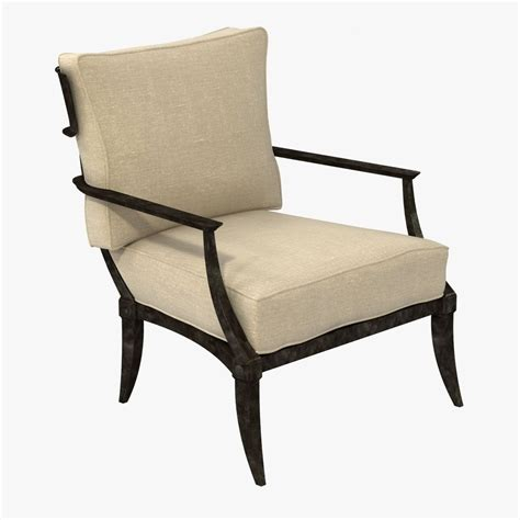 Restoration Hardware Lounge Chair by Restoration Hardware Klismos Classic Loung 3d Model