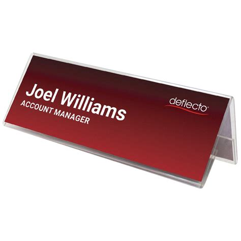 Name Card Box Deflecto Deflect O A4 Name Card Holder Landscape Clear Officeworks