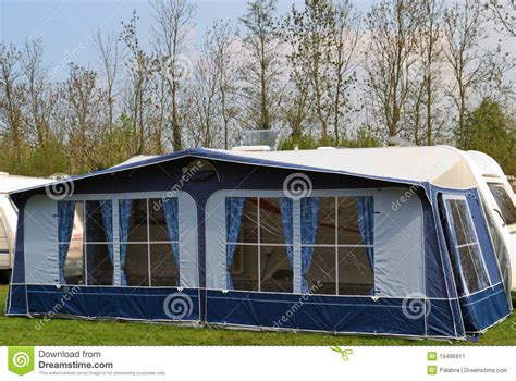 tent trailer awning travel trailer with awning tent 1 stock image image
