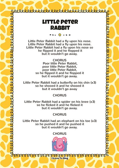 peter rabbit song  video song lyrics
