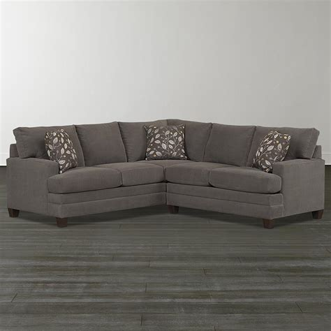 Bassett Furniture Sectional Sofas Smoke Gray L Shaped Sectional