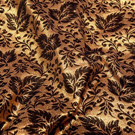 brown leaf pattern buy golden and brown leaf pattern brocade silk fabric 5337