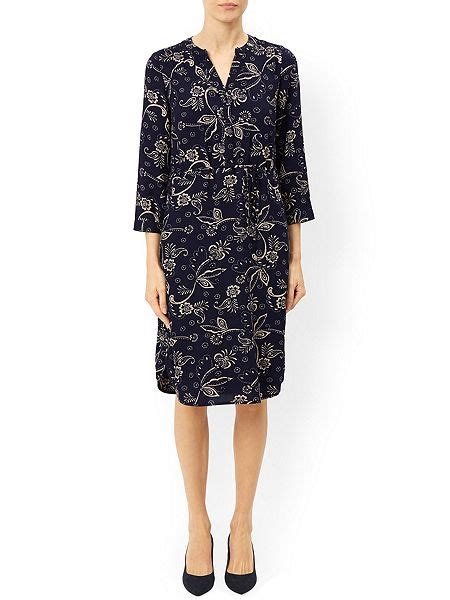 Monsoon Printed Tunics by Monsoon Waltzing Print Tunic Dress Navy House Of Fraser