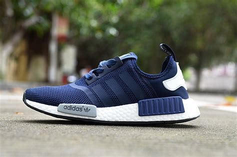 Sepatu Sneakers For Adidas Nmd Runner Greey sale adidas nmd r1 runner navy blue grey white s s casual sneakers shoes