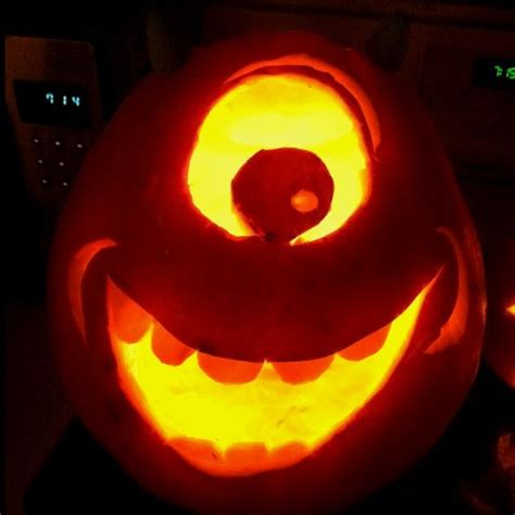 Mike Wazowski Pumpkin Carving Template mike wazowski search and