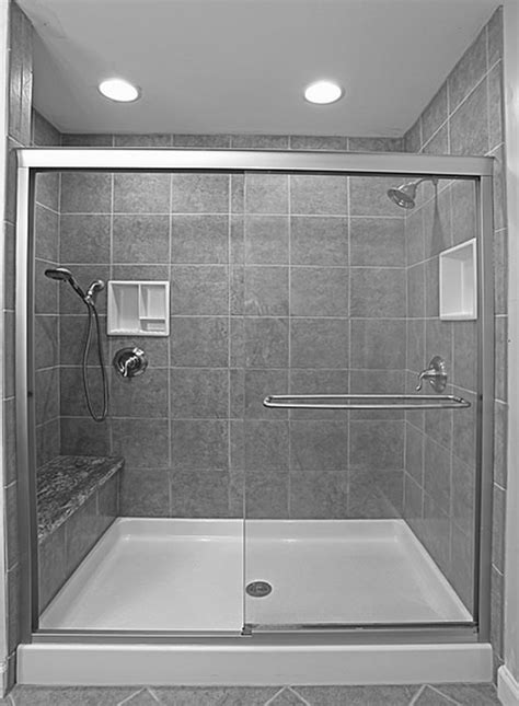 White Bathroom Interior With Concrete Manity With Black Bathroom With Shower Only
