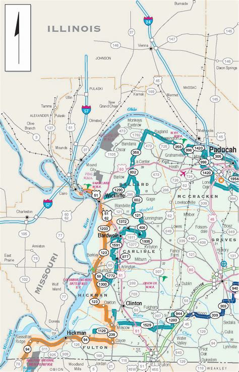kentucky bike map biking trails routes across kentucky