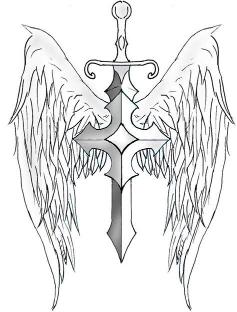 sword and shield tattoo designs sword wings by archerion on deviantart
