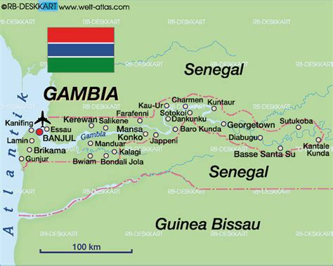 gambia world map map of gambia the map in the atlas of the world world