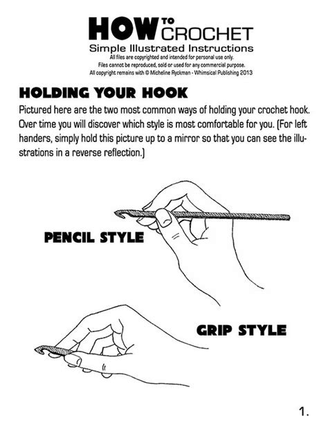 ci tutorial for beginners pdf printable basic crochet stitches pictures to pin on