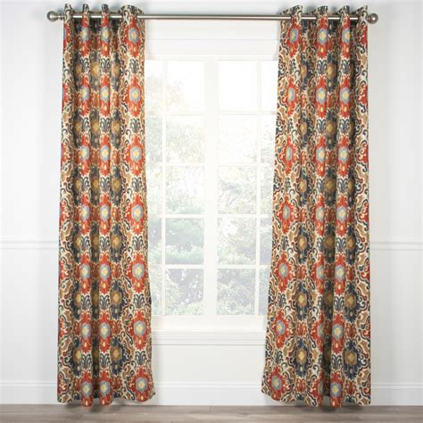 tuscan drapes tuscany grommet top curtain panel